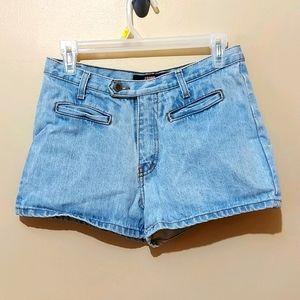Vintage High Waist Stone Jeans Denim Shorts
